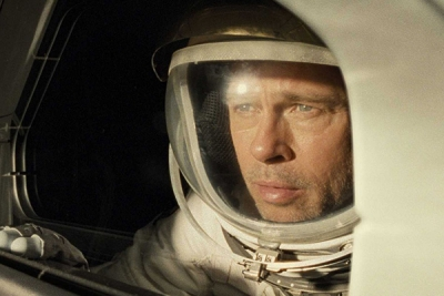 Brad Pitt, as an astronaut, in the movie, Ad Astra