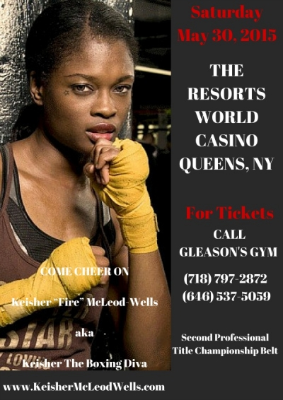 "Keisher ""Fire"" McLeod-Wells ready for her second championship boxing belt"