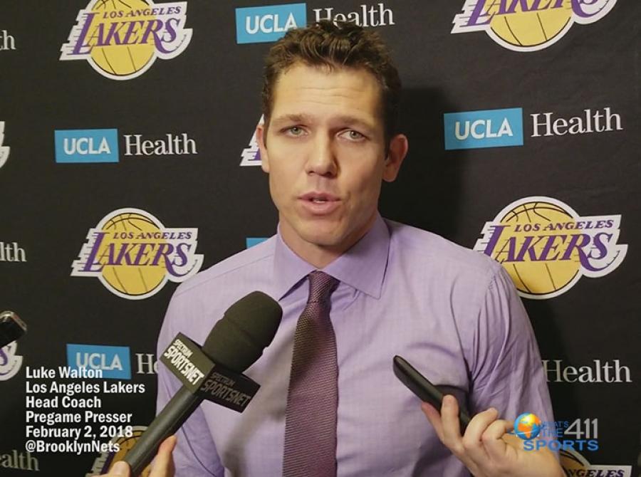 Los Angeles Lakers Head Coach Luke Walton's Nets' Postgame Presser