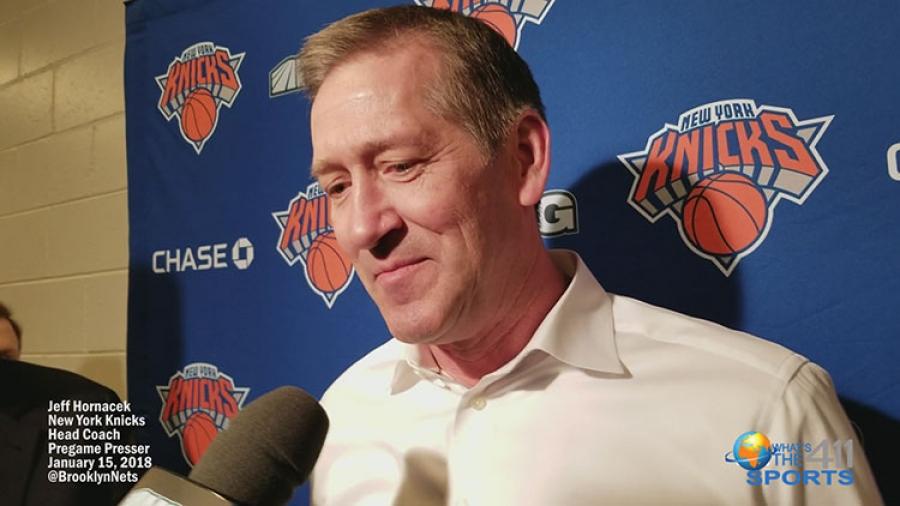 New York Knicks Head Coach Jeff Hornacek's Nets' Pregame Presser