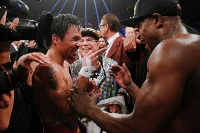 Professional boxers Manny Pacquiao and Floyd Mayweather