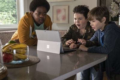 Keith L. Williams, Brady Noon, and Jason Tremblay, the primary characters in the movie, Good Boys