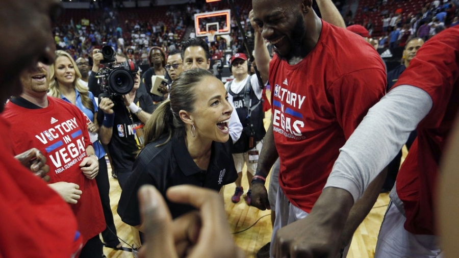 Gregg Popovich Dishes on Spurs Assistant Coach Becky Hammon [VIDEO]